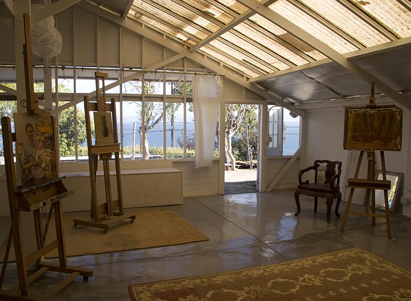 Interior view of Manny Cosentino's studio in Malibu, CA.© Manny Cosentino