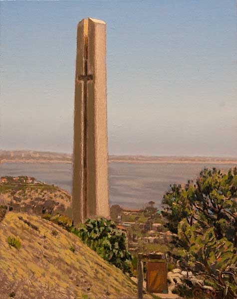 "Themetower Study 1, (oil on canvas, 16"" X 12"", 2020.)"